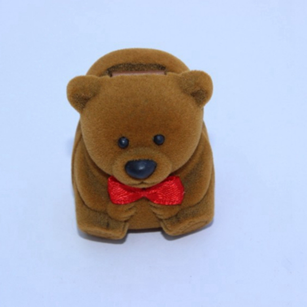 Bear In Hing Reng 2: Cute Velvet Bear Shape Flock Ring Box Pendant Earring