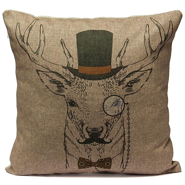 animaux housse de coussin taie d 39 oreiller canap lit maison f te d coration hj ebay. Black Bedroom Furniture Sets. Home Design Ideas