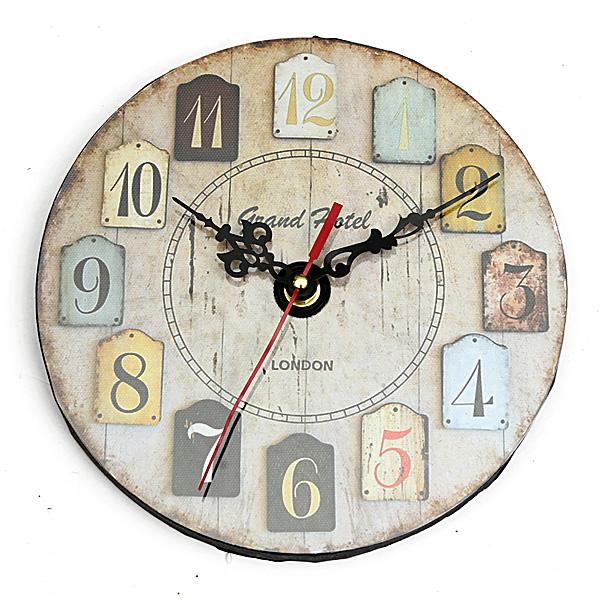 Orologio da parete digitale acrilico vintage rustic shabby for Orologi da parete vintage