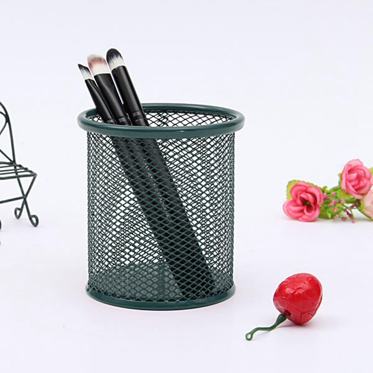 Make-UP Mesh Metal Brush Pencil Holder Organizer Storage ...