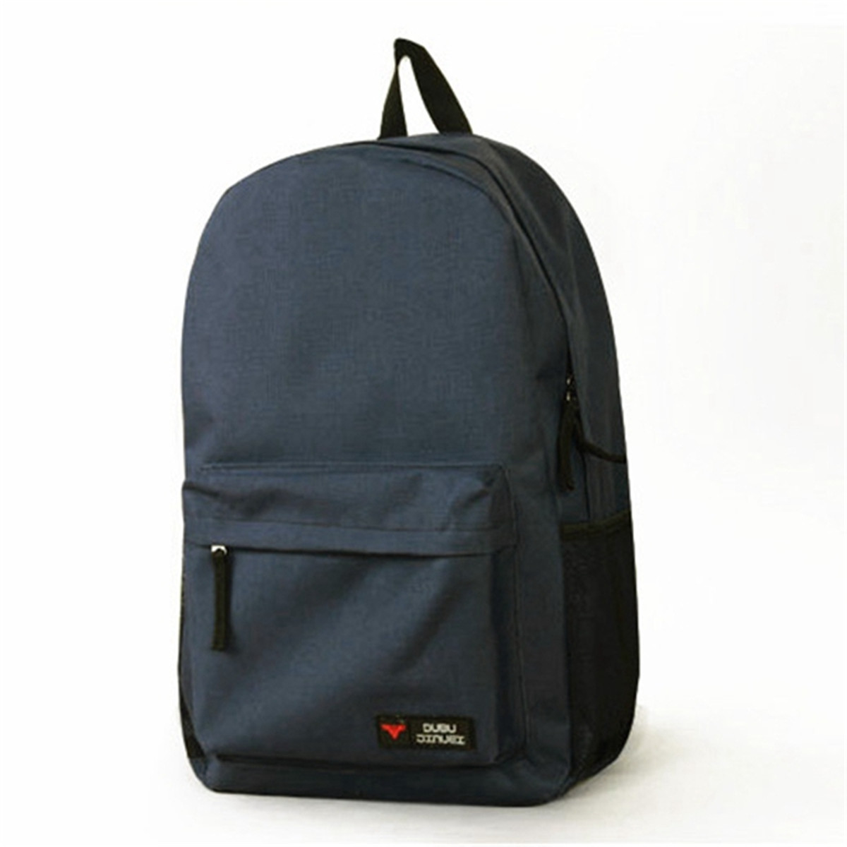 Women Men Oxford Cloth Backpack Travel School Shoulder Bag Plain Rucksack Canvas