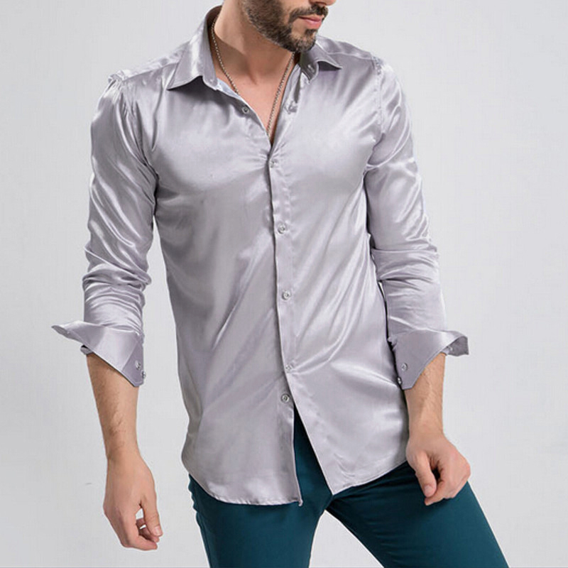 new mens casual dress slim fit t shirts casual long sleeve