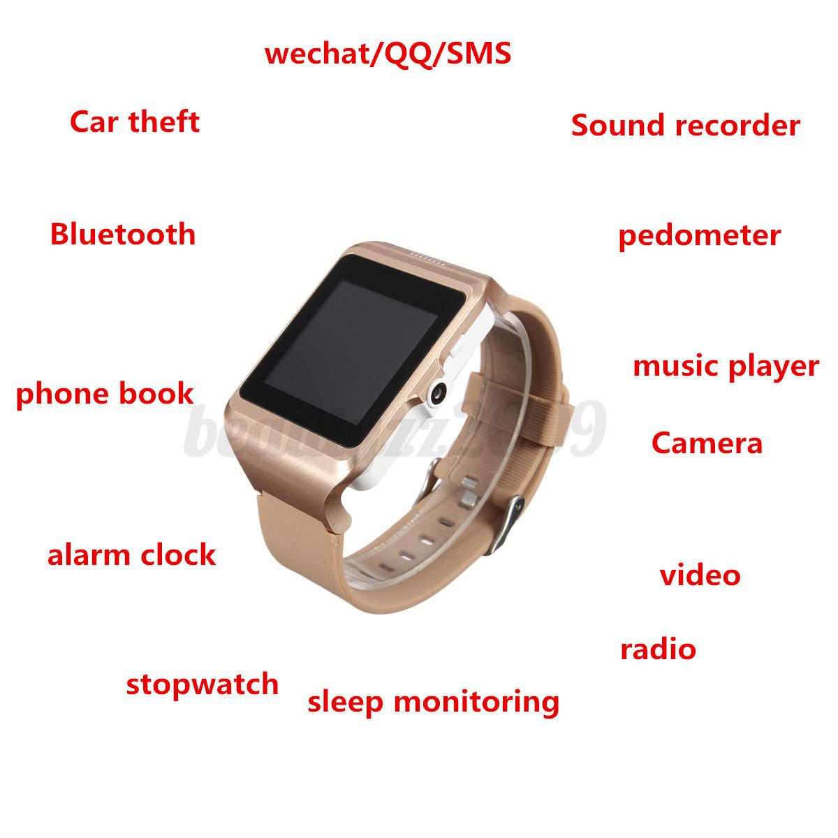 Bluetooth 3.0 Wrist Smart Watch Touch screen Pedometer ...