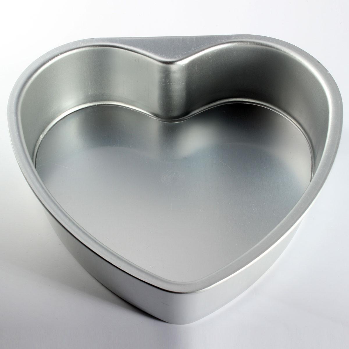 3-10 Inchs Aluminium Heart Fondant Cake Baking Mold Pan Tins Wedding Muffin