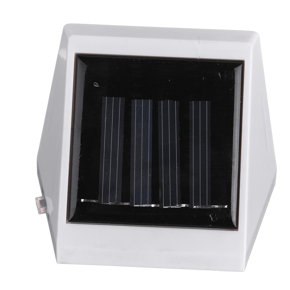 solar treppen solarlampe solarleuchte wandleuchte 2led garten flurlampe strahler ebay. Black Bedroom Furniture Sets. Home Design Ideas