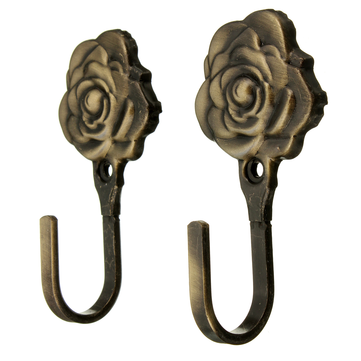 4Color-2Pcs-Metal-Rose-Flower-Curtain-Tie-Back-Tieback-Holders-Wall ...