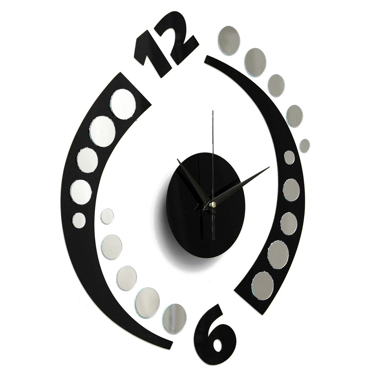 3d diy orologio adesivo da parete rotation clock wall for Orologio stickers