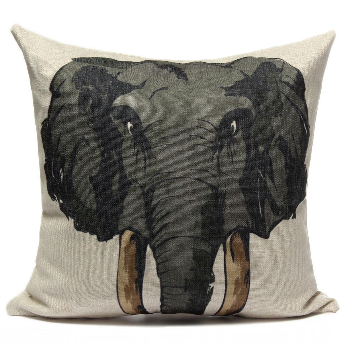 Animal World Home Decor Linen Pillow Case Bed Sofa Car Back Throw Cushion Cover eBay