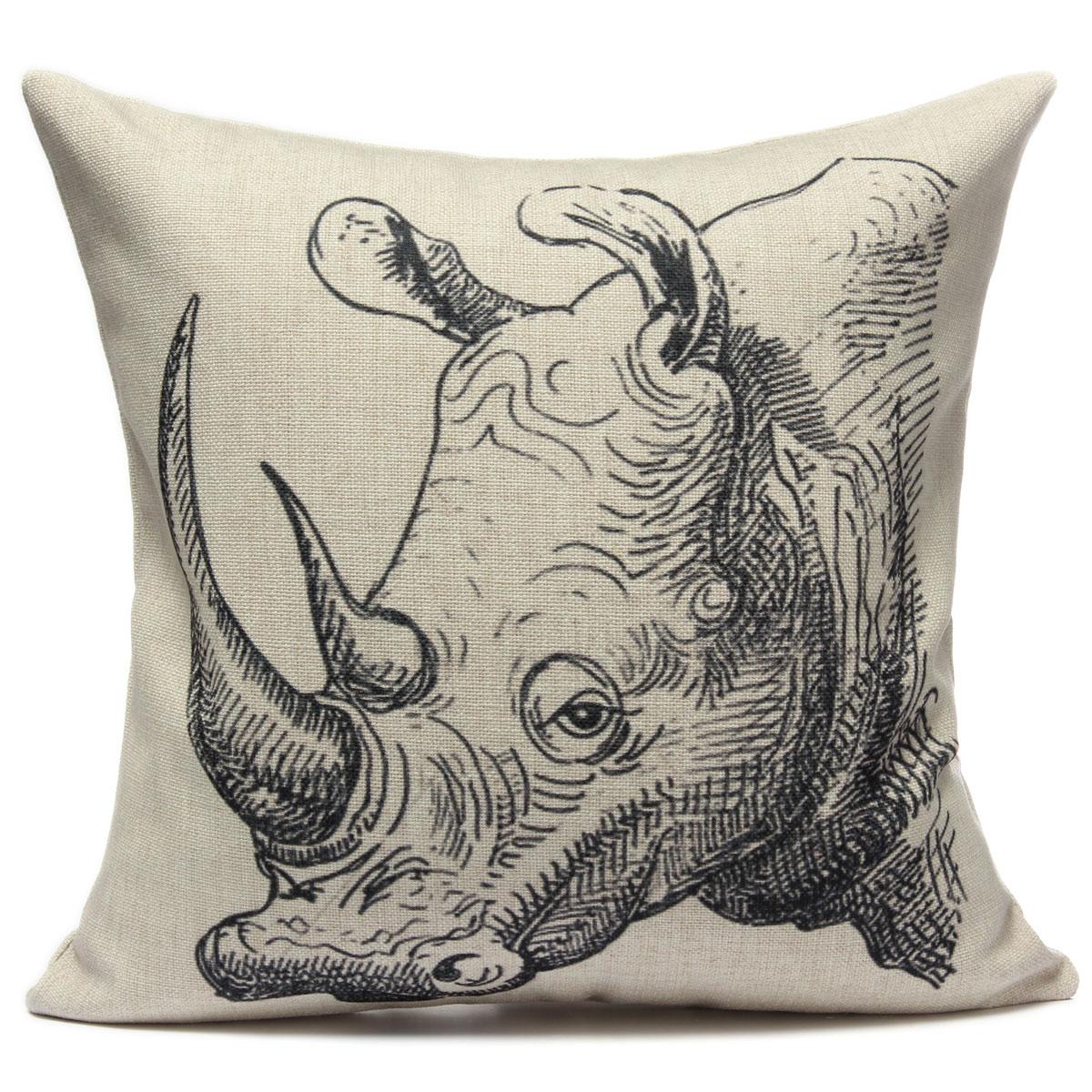 animaux housse de coussin taie d 39 oreiller maison voiture canap lit sofa d co ip ebay. Black Bedroom Furniture Sets. Home Design Ideas