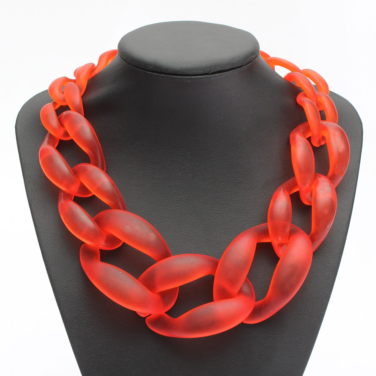 Fashion Lady Acrylic Collar Chunky Choker Bib Statement Chain Necklace Pendant