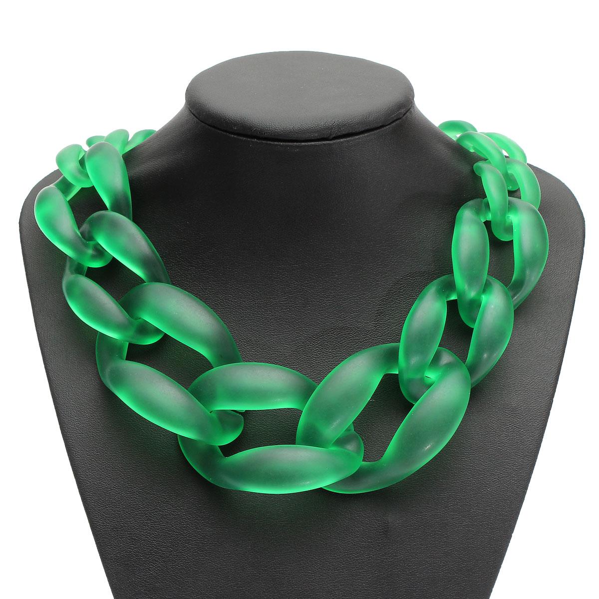 Fashion Lady Jewel Acrylic Collar Chunky Choker Statement Chain Necklace Pendant