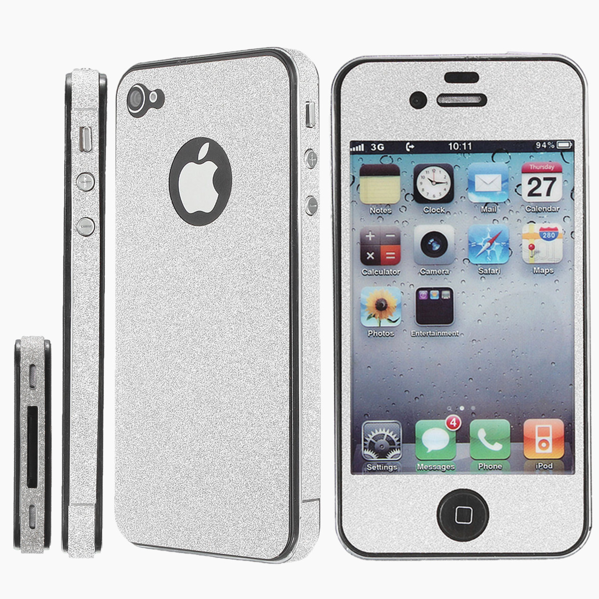 DIYBling Full Body Sticker Skin Screen Protector Cover For Apple iPhone4 4S 5 5S