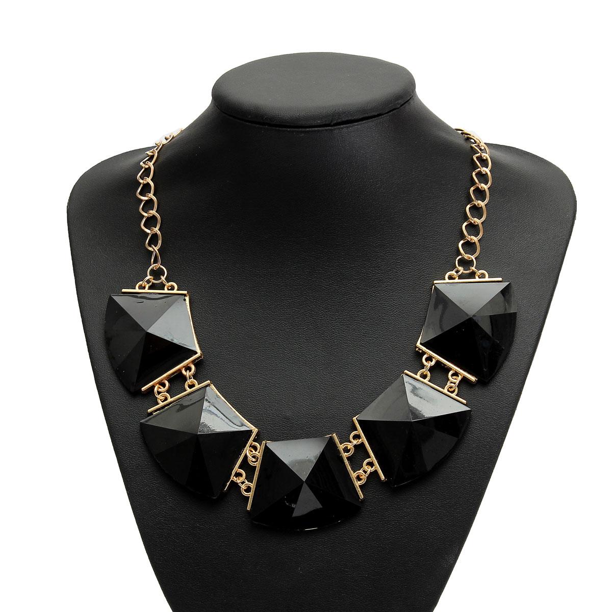 chunky cha ne collier sautoir tour de cou cristal perle bijoux necklace femme ebay. Black Bedroom Furniture Sets. Home Design Ideas