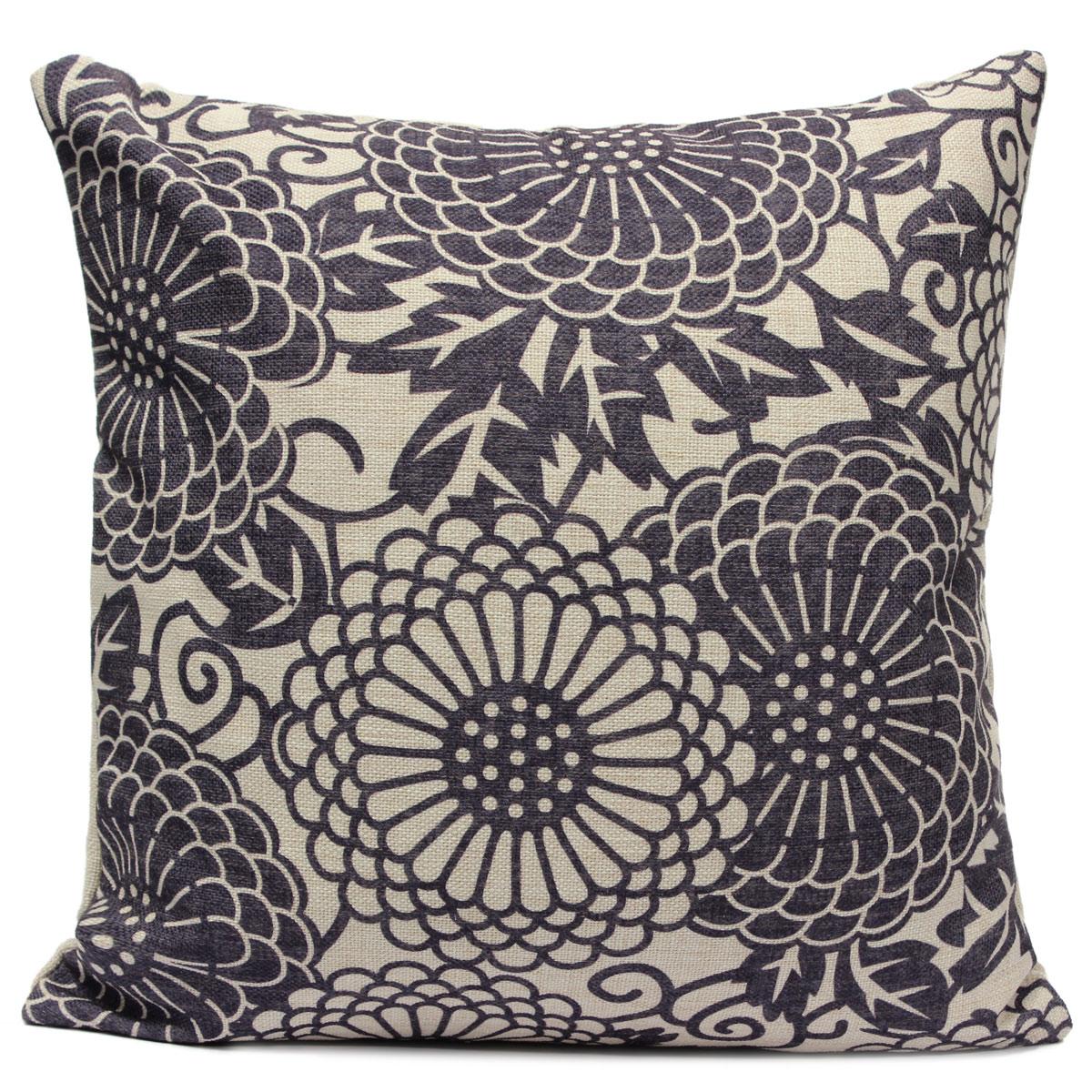 Vintage Pillows: Vintage Chinoiserie Geometric Pillow Case Throw Cushion
