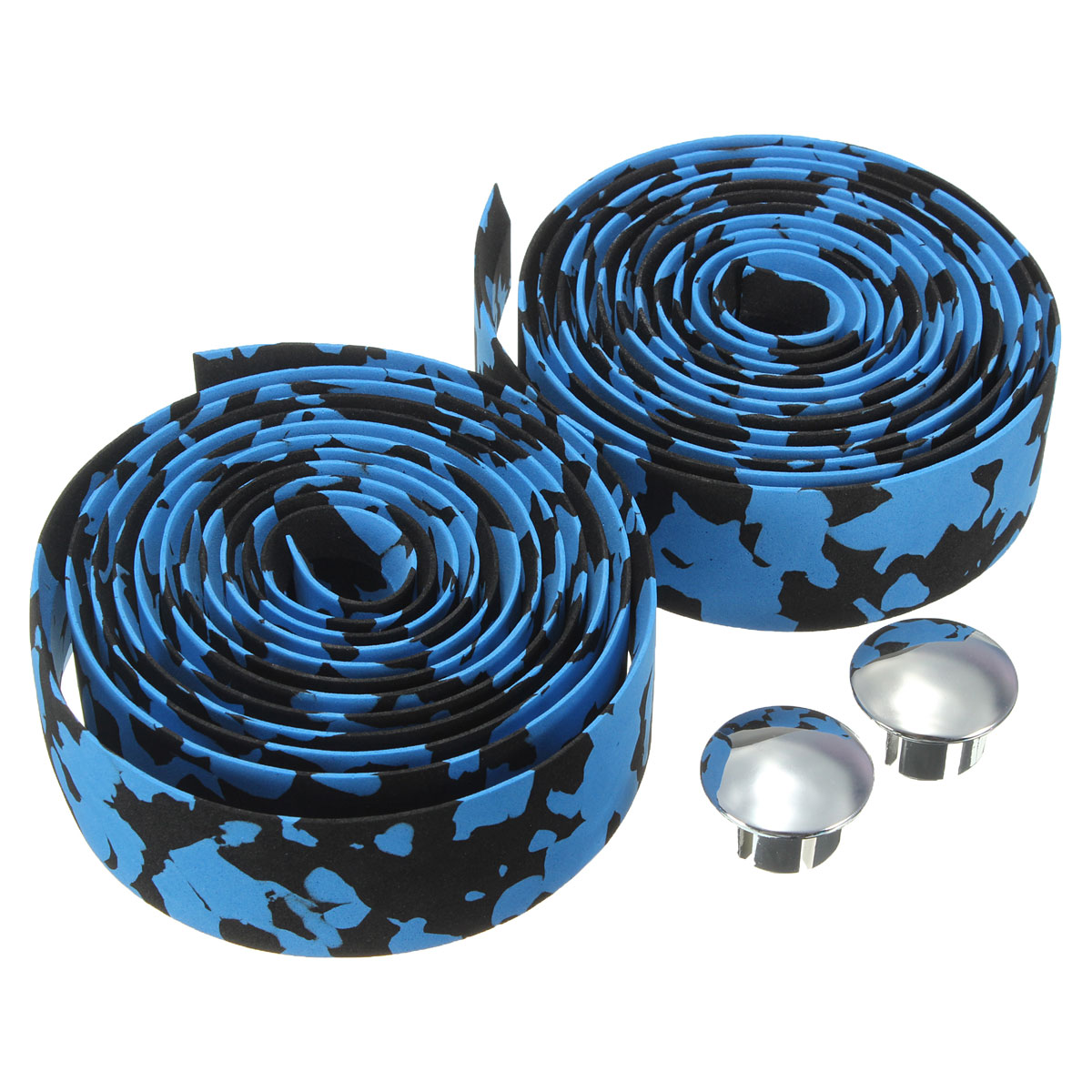 2Pcs Cycling Road Bicycle Bike Sports Cork Handlebar Wrap Tape + 2 Bar Plugs
