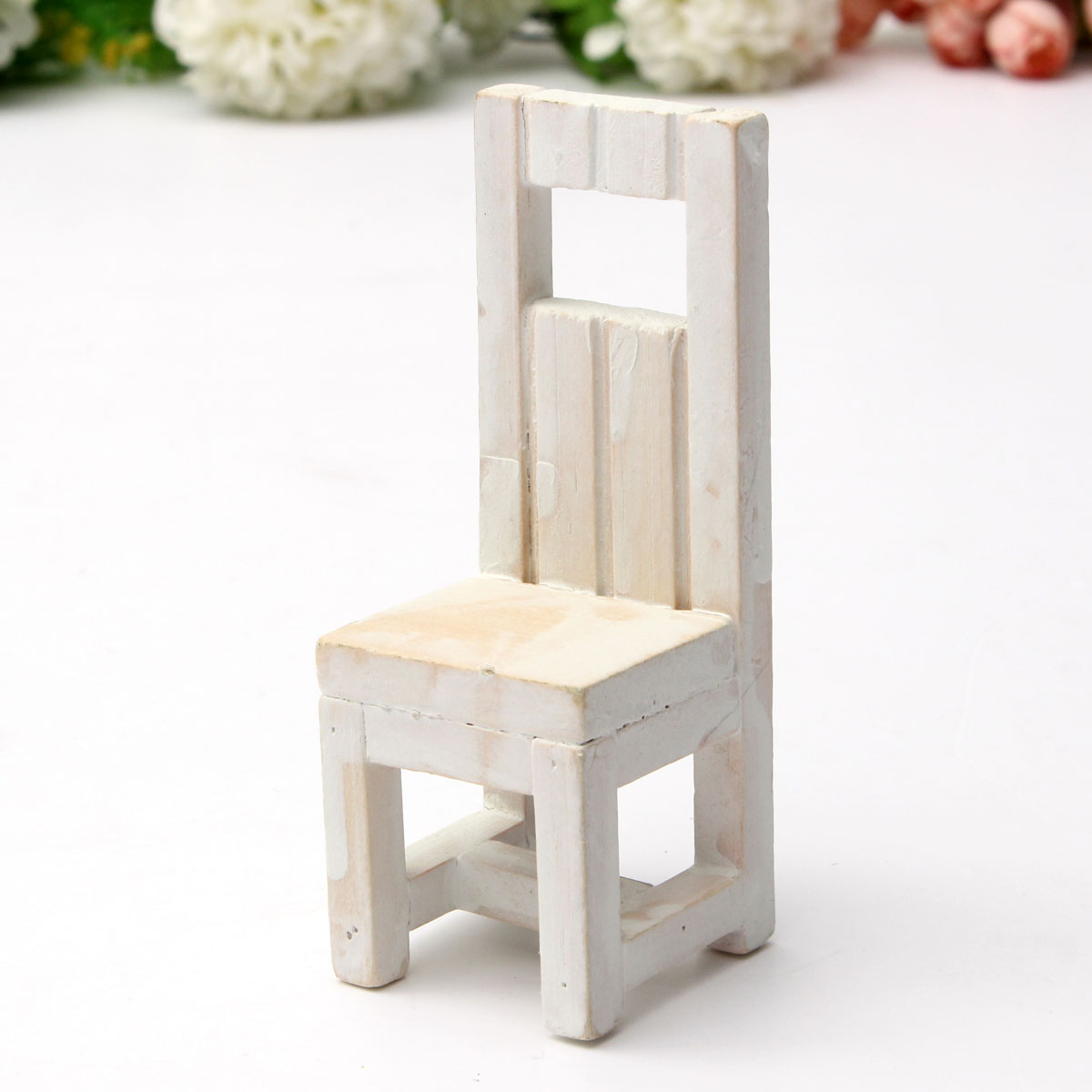 Marvelous photograph of Mini Fairy Garden Wooden Chair Wedding Cake Model DollHouse Grocery  with #27370A color and 1200x1200 pixels