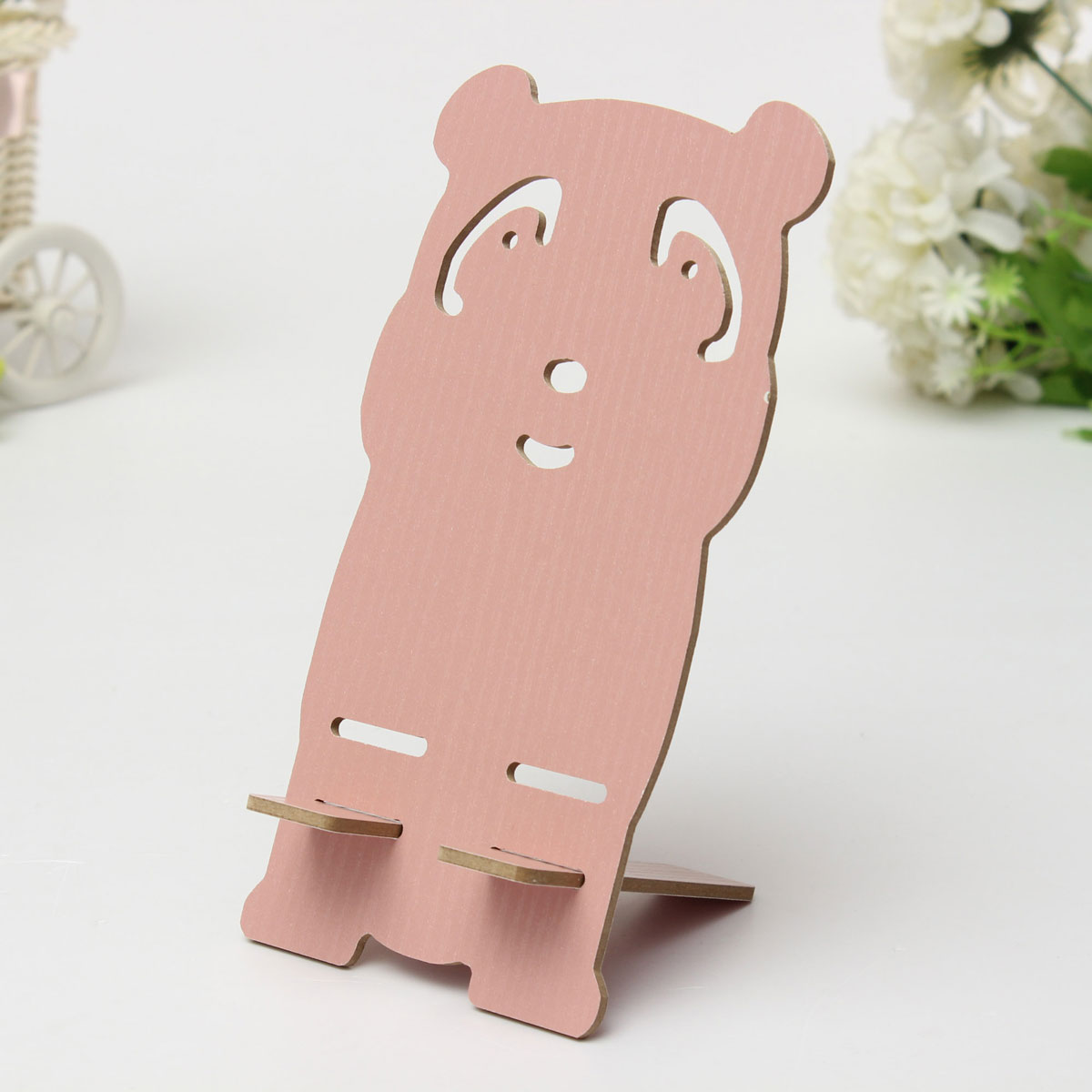 Wood Wooden Cute Panda Animal Desk Table Stand Holder For Cell Phone Multicolor | eBay