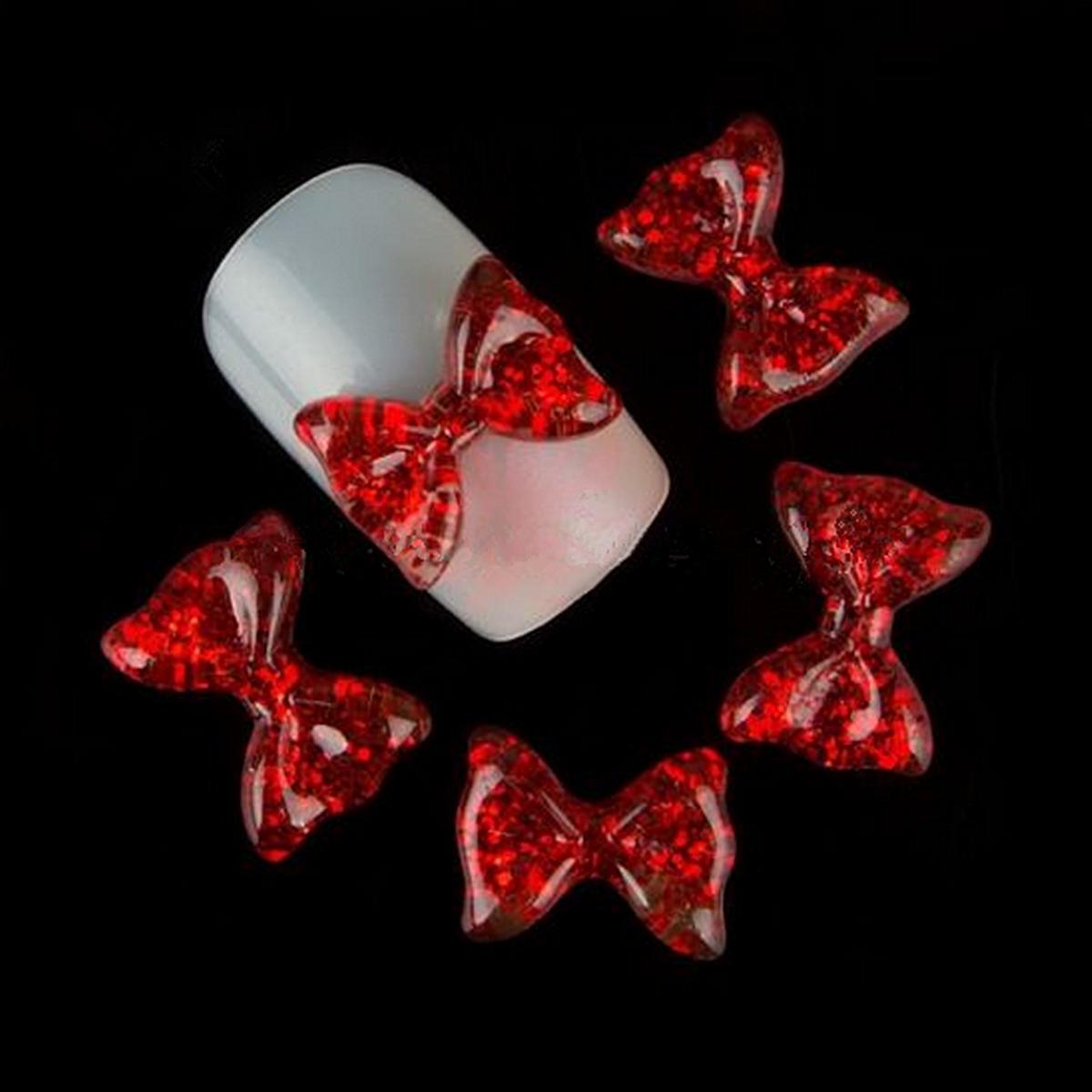 10X Nail Art DIY Decoration Big Bow Resin Crystal Glitter Rhinestone Phone Craft