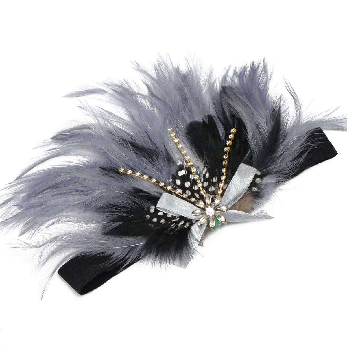 b b bandeau cheveux plume serre t te elastique fille enfant accessoires mariage ebay. Black Bedroom Furniture Sets. Home Design Ideas