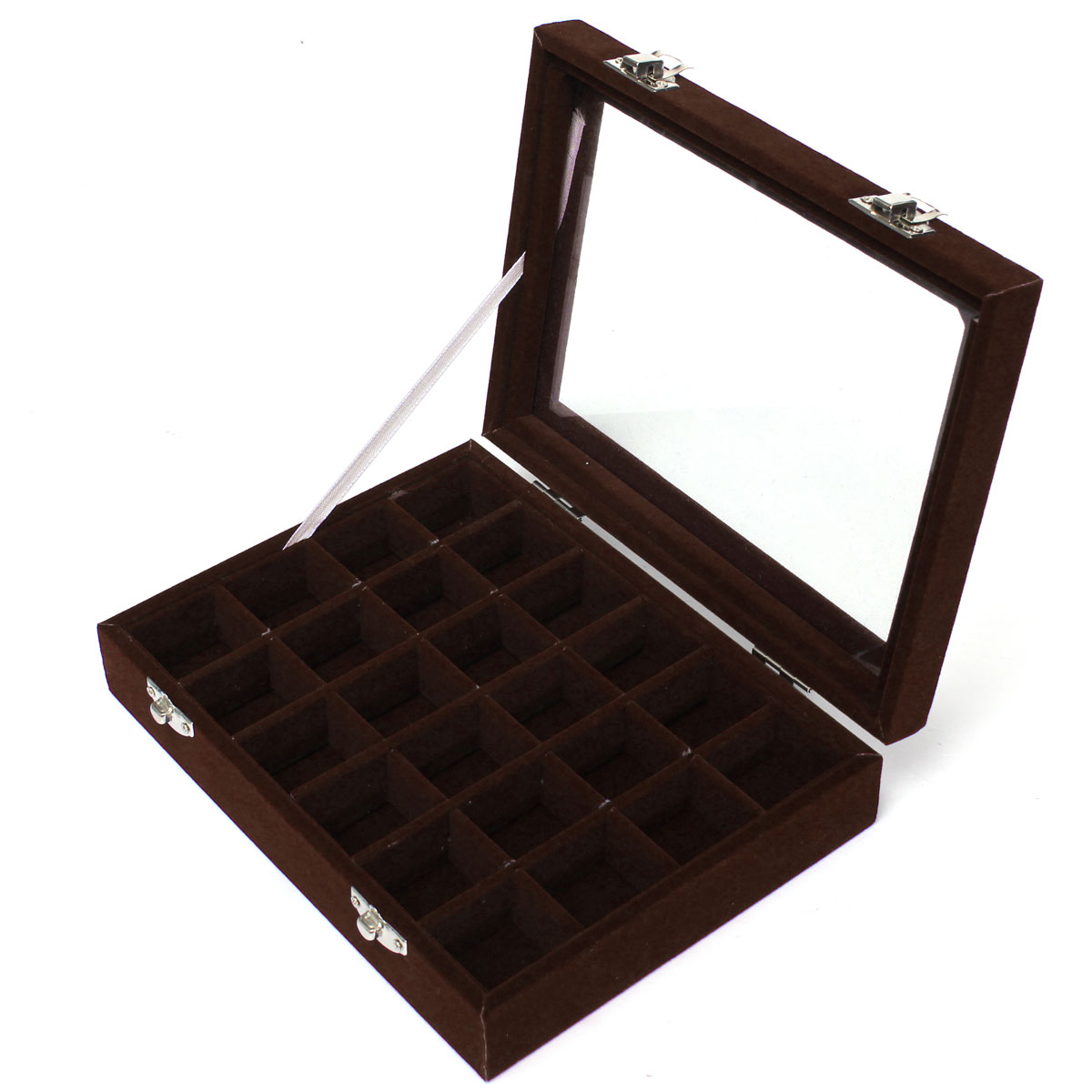 bo te rangement 24 compartiments bijoux boucles d 39 oreille perles ebay. Black Bedroom Furniture Sets. Home Design Ideas