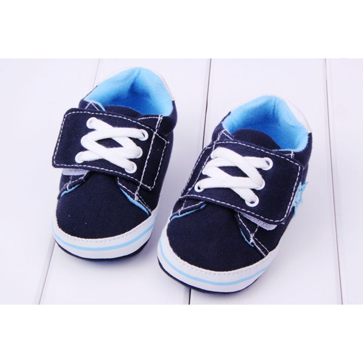 Baby Boy Canvas Sports Crib Shoes Infant Soft Sole Sneakers Toddler Prewalker