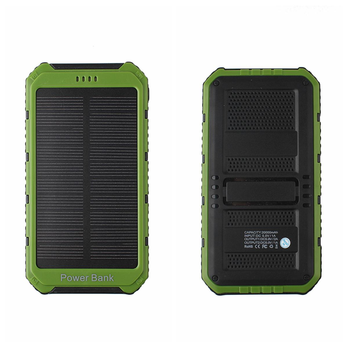 20000mah 2 usb portable externe solaire batterie chargeur secours power bank ebay. Black Bedroom Furniture Sets. Home Design Ideas