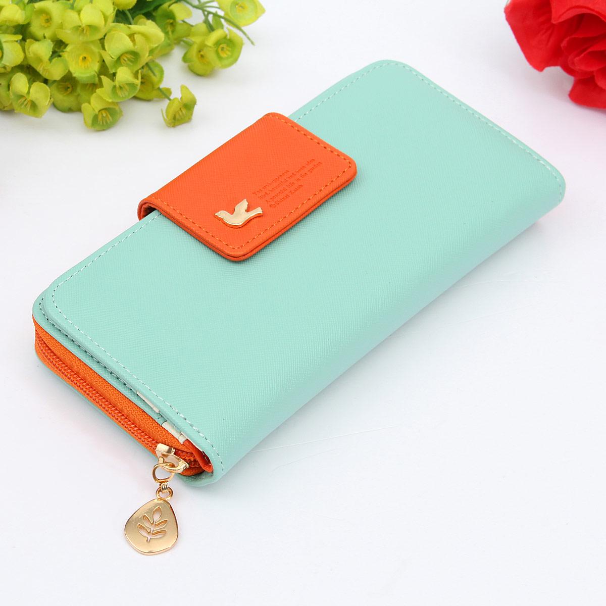 Women PU Leather Long Purse Clutch Wallet Zip Bag Card Coin Phone Holder Handbag