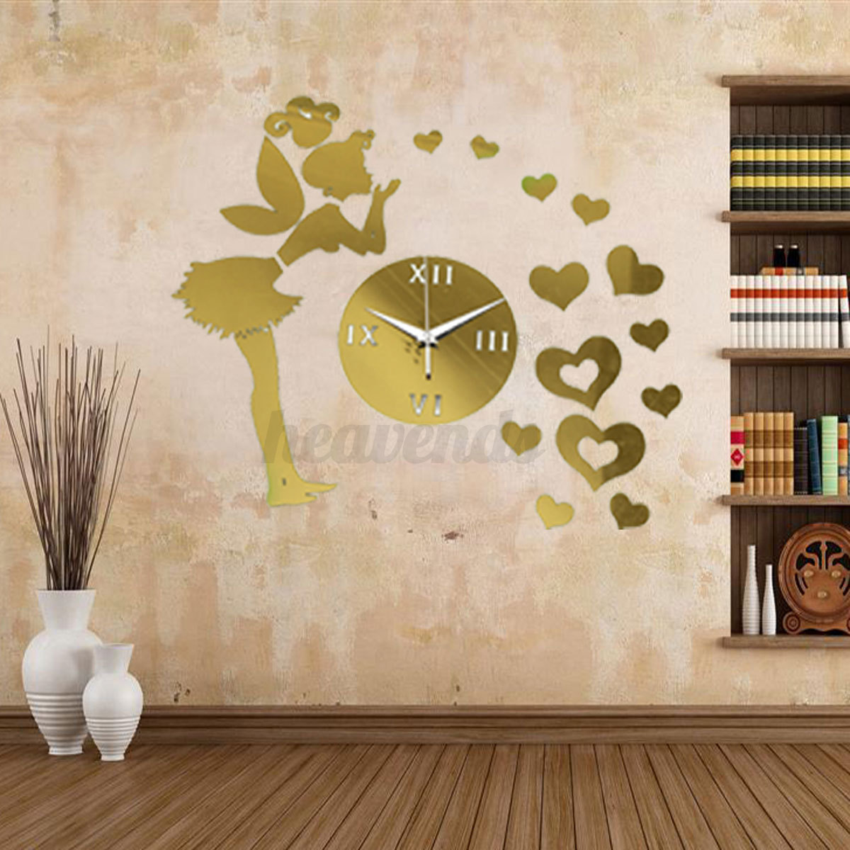 diy 3d horloge murale moderne design miroir maison art decor pr salon chambre ebay. Black Bedroom Furniture Sets. Home Design Ideas