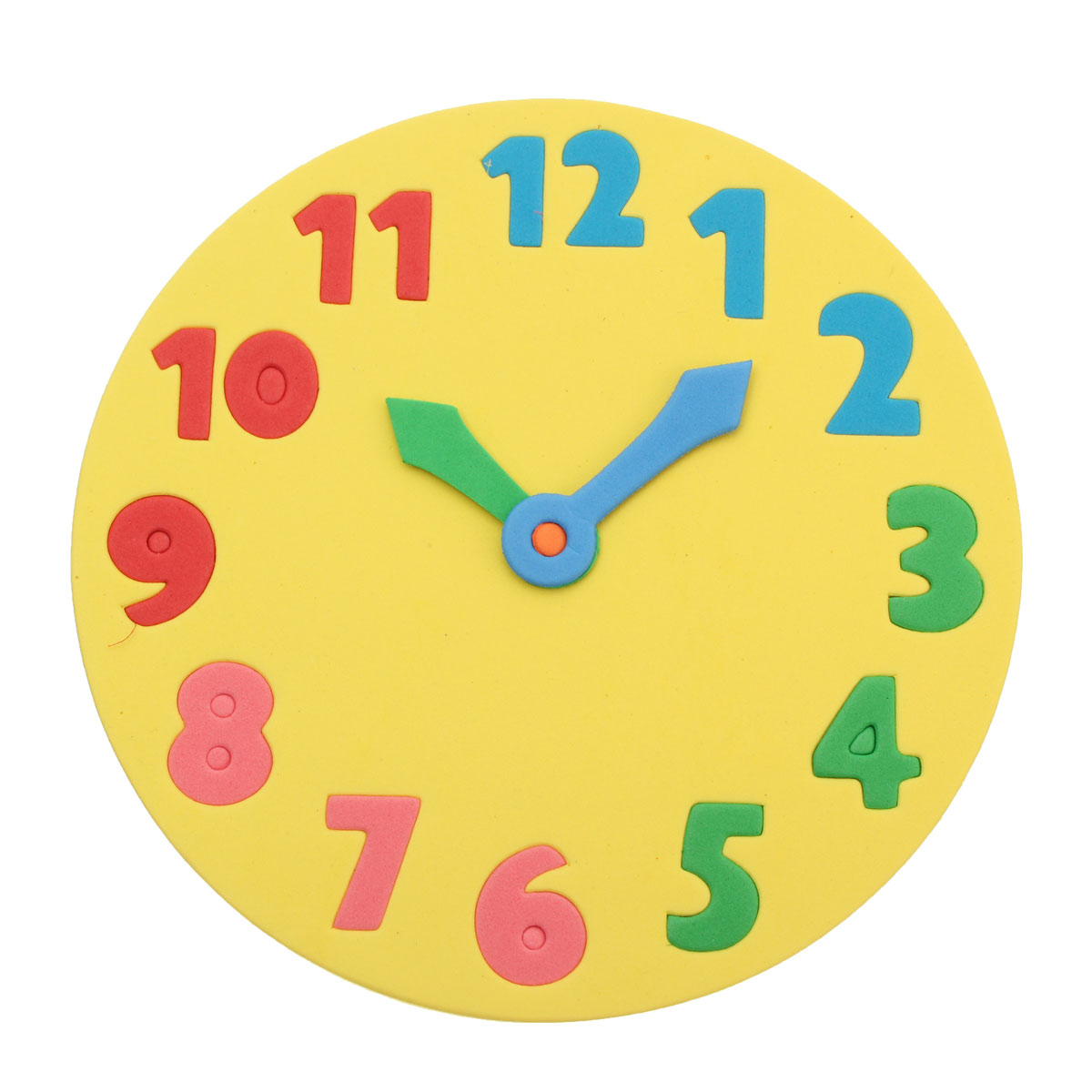 Foam Number Clock Time Puzzle Children Baby Kids Learning Educational Play Toy