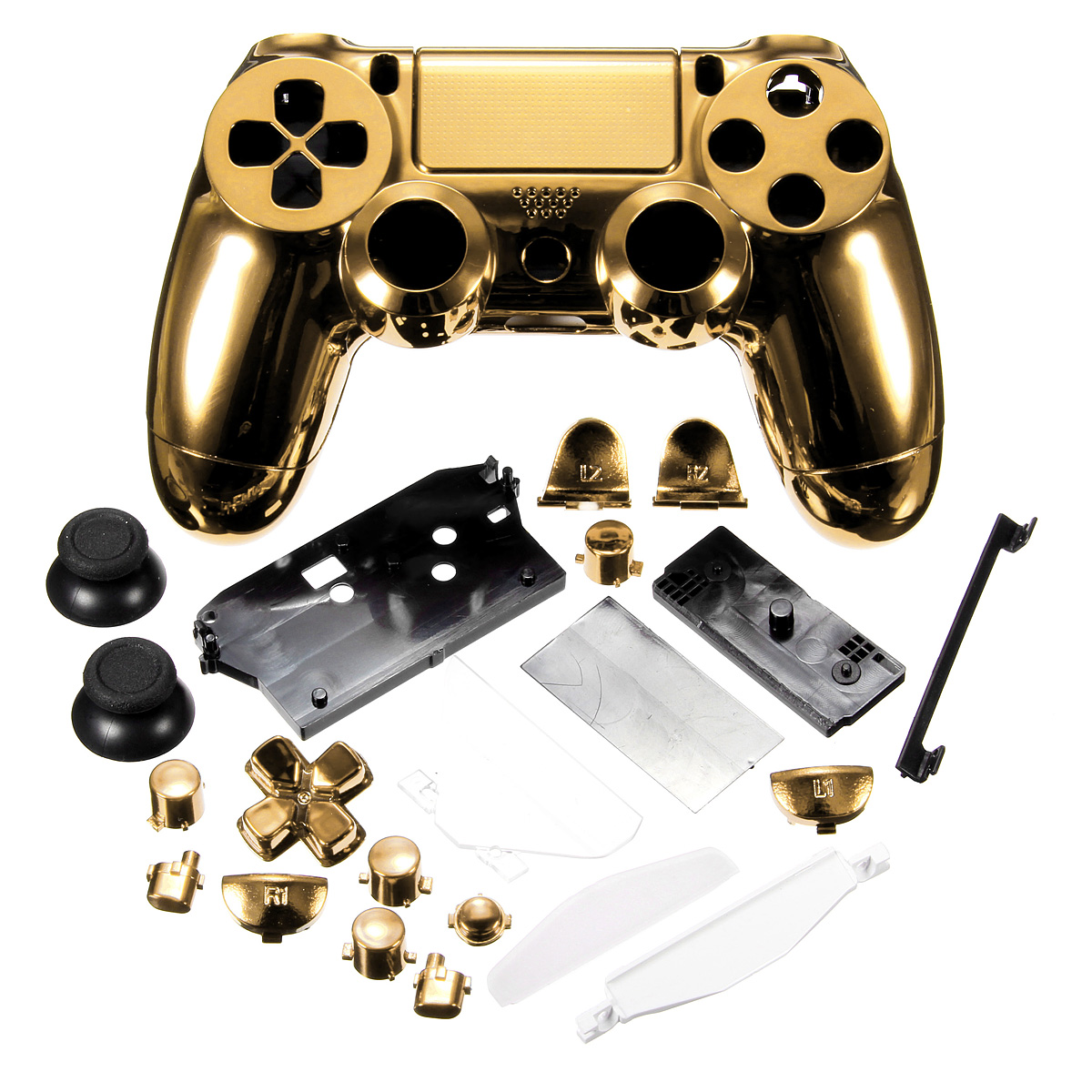 Chrome plaqu housse coque protection pour manette ps4 for Housse manette ps4