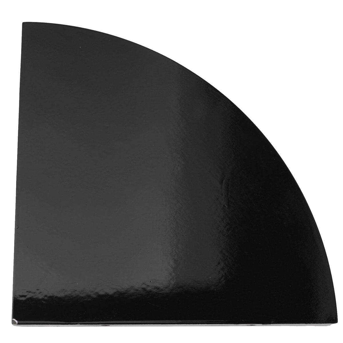 28x28cm Corner Shelf Floating Wall Corner Shelf Unit Display Gloss Wood Storage
