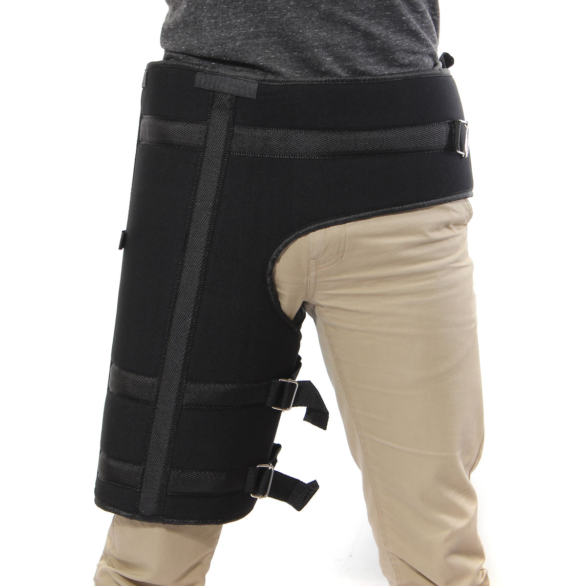 Hip Support Groin Black Stabilizer Support Brace Fracture