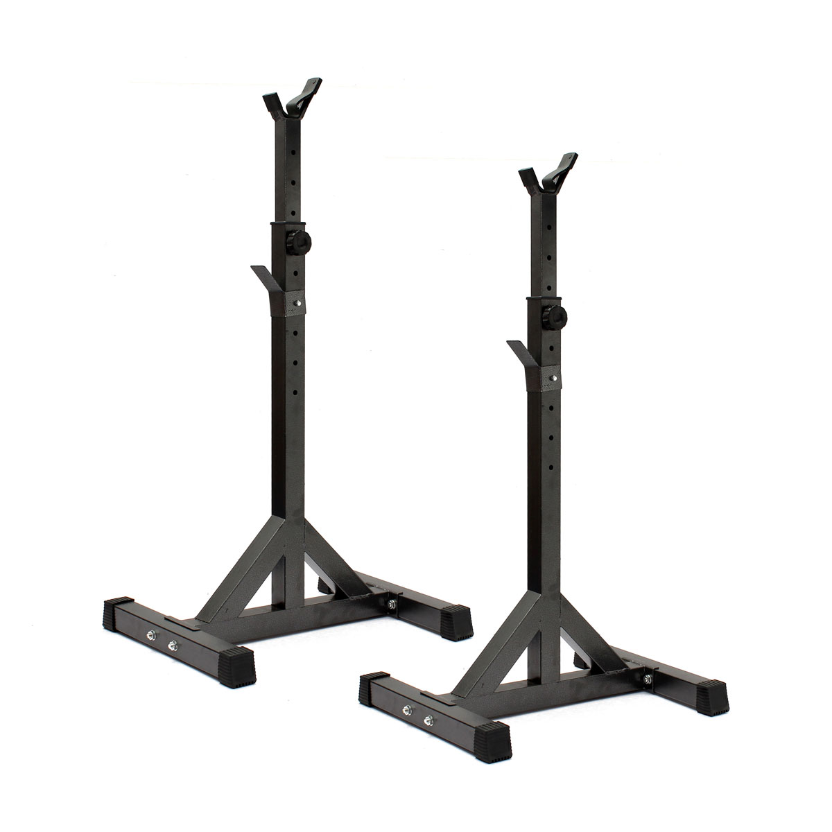 Adjustable Heavy Duty Squat Rack Bench Press Weight Lifting Barbell Power Stand Ebay