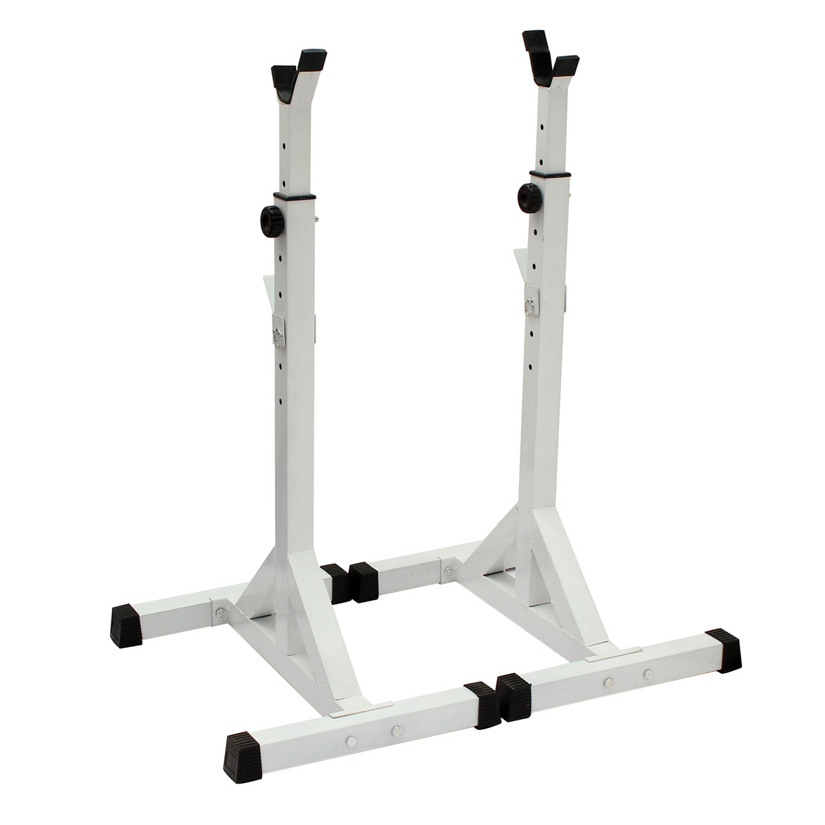 Heavy Duty Squat Barbell Power Rack Stand Adjustable Press Weight Bench White Uk Ebay