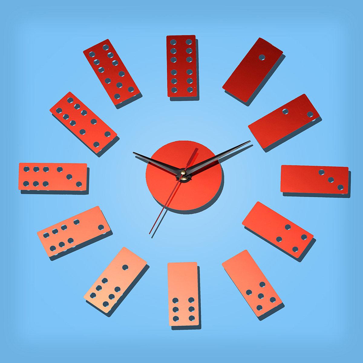 horloge poker murale design diy 3d maison moderne miroir