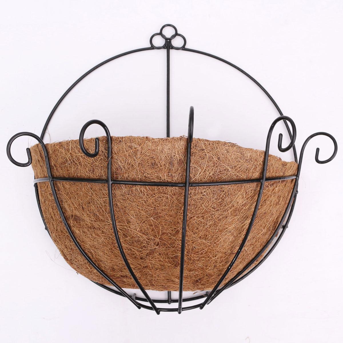 Country Garden Style Iron Hanging Flower Basket Window
