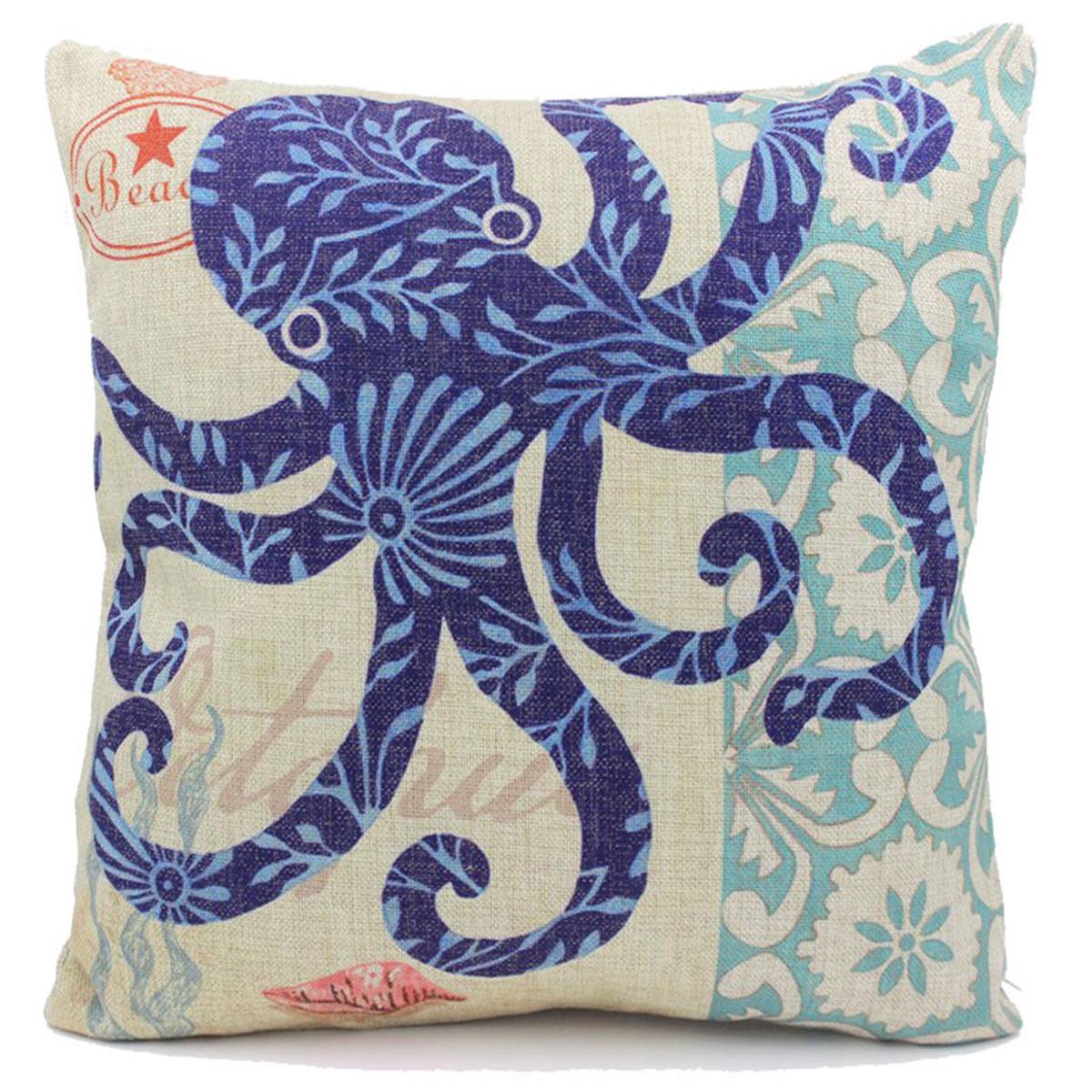 Ocean Animal Pillows : Ocean Animal Sofa Car Throw Pillow Case Cotton Cushion Cover Decor Cushion Linen eBay