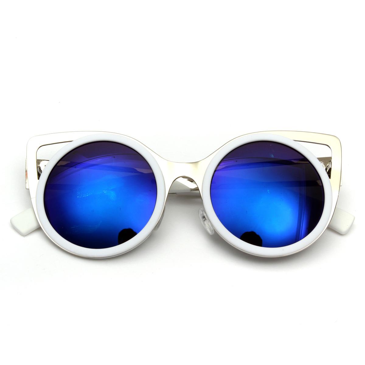 damen bunte sonnenbrille retro brille verspiegelt katze style nerd brillen uv400 ebay. Black Bedroom Furniture Sets. Home Design Ideas