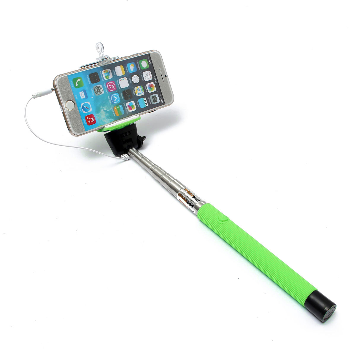 extendable wired remote shutter handheld selfie stick monopod for iphone ipod. Black Bedroom Furniture Sets. Home Design Ideas