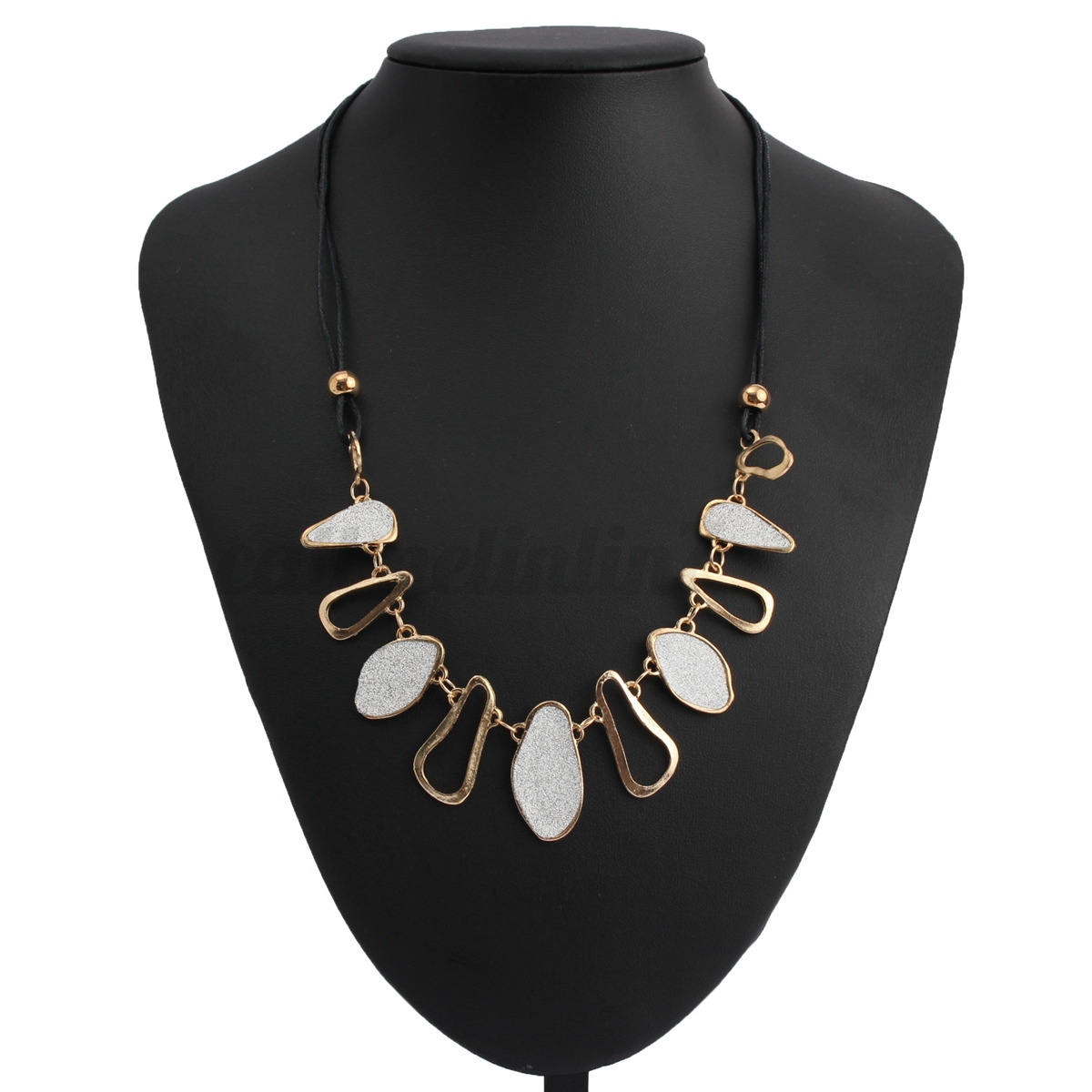 collier choker chunky bib ras de cou pendentif cristal bijoux cha ne femme fleur ebay. Black Bedroom Furniture Sets. Home Design Ideas