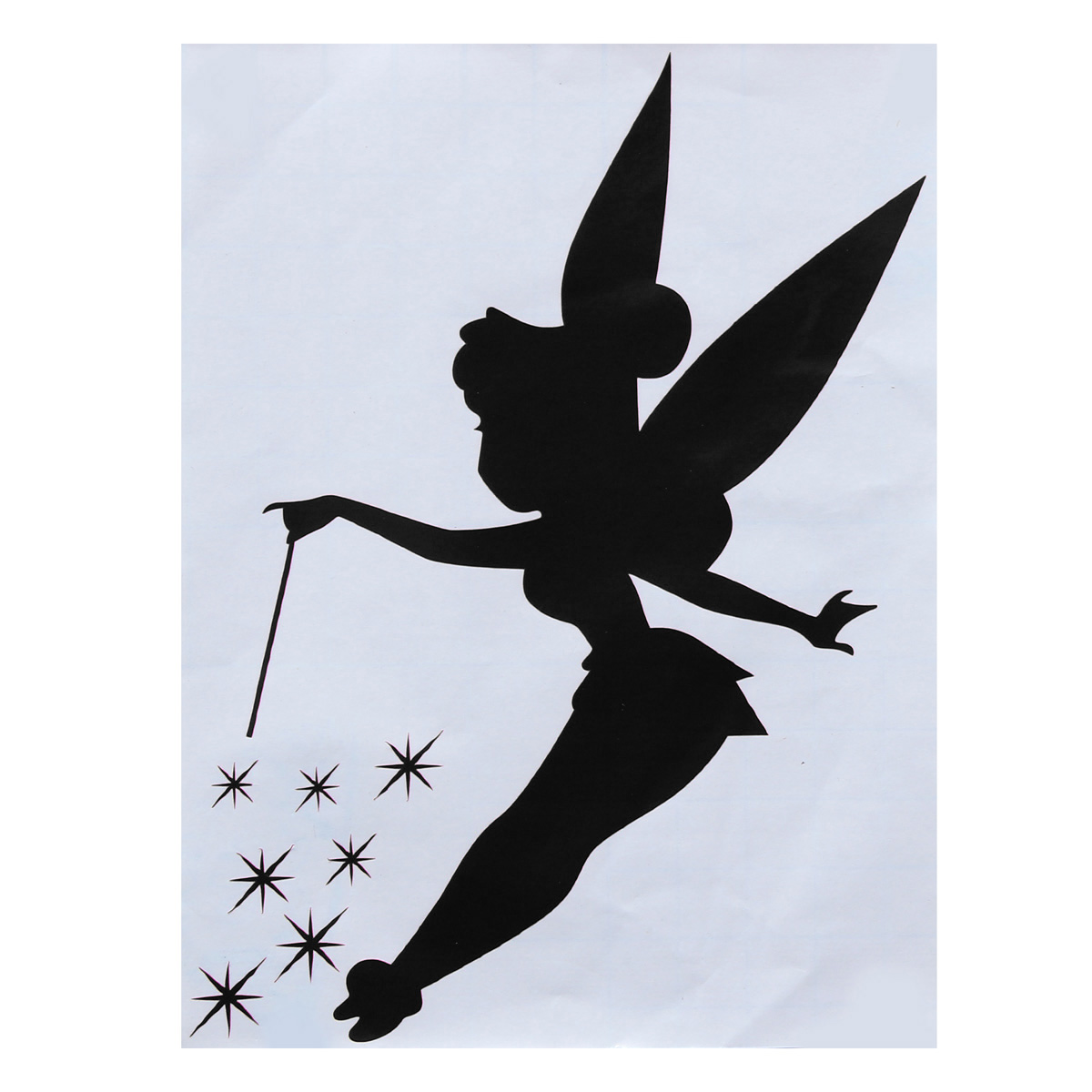 Fairy Wall Art cute fairy wall light switch sticker surround childrens bedroom
