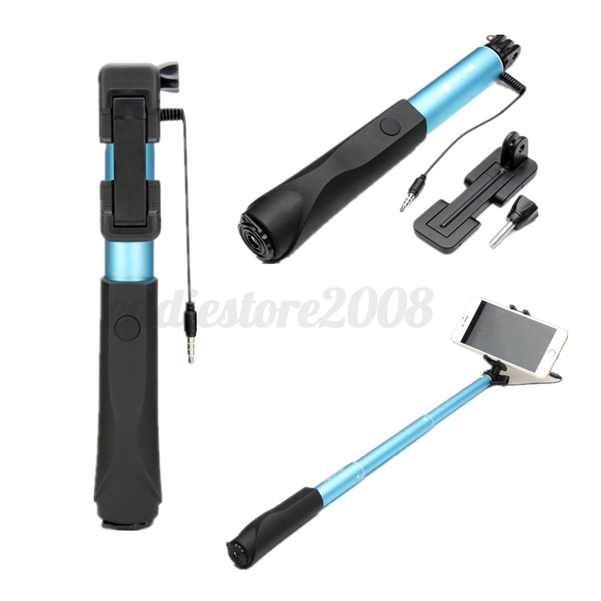 blitzwolf universal extendable mini wire selfie stick monopod for mobliephone ebay. Black Bedroom Furniture Sets. Home Design Ideas