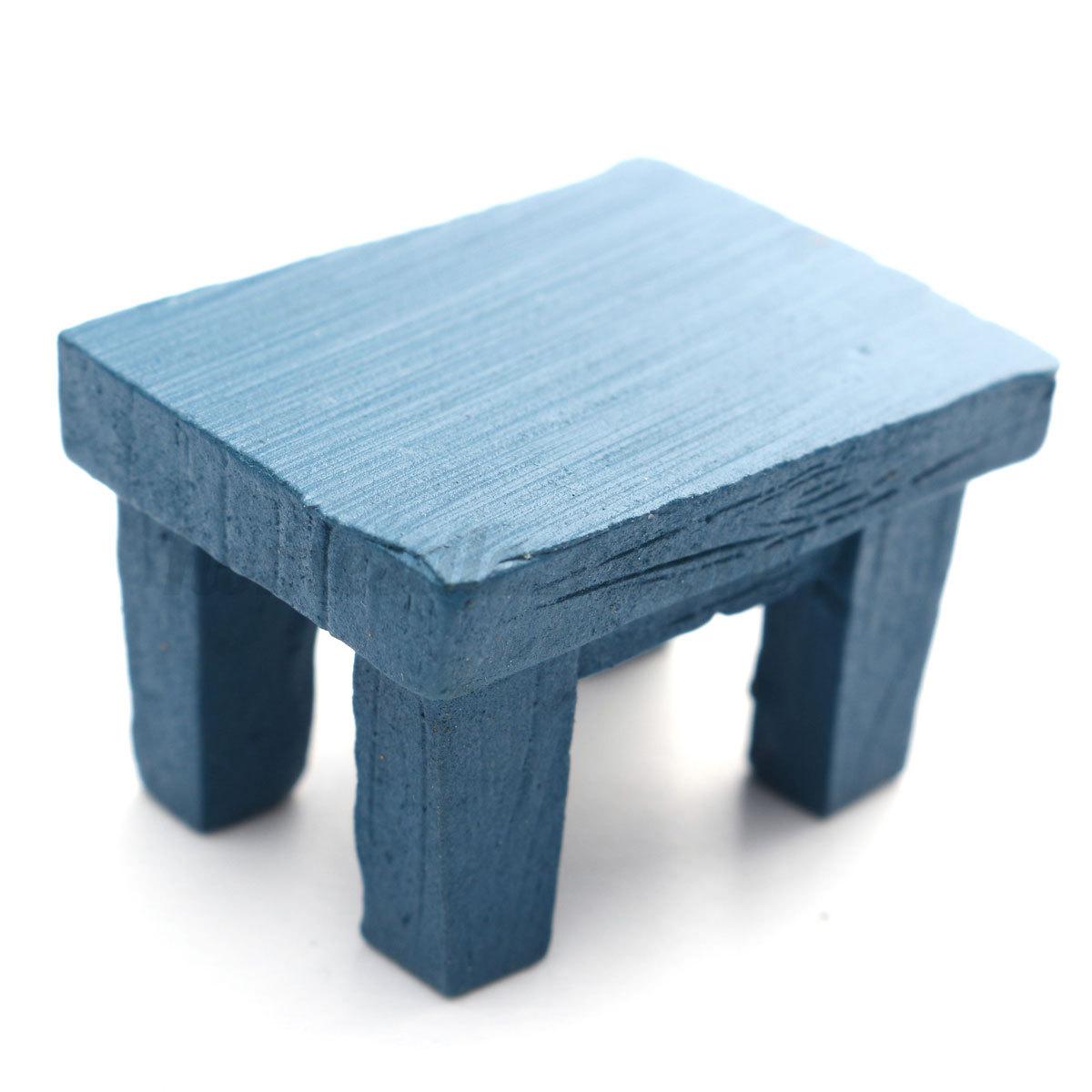 Mini Fairy Garden Wooden Chair Seashore Bench DollHouse