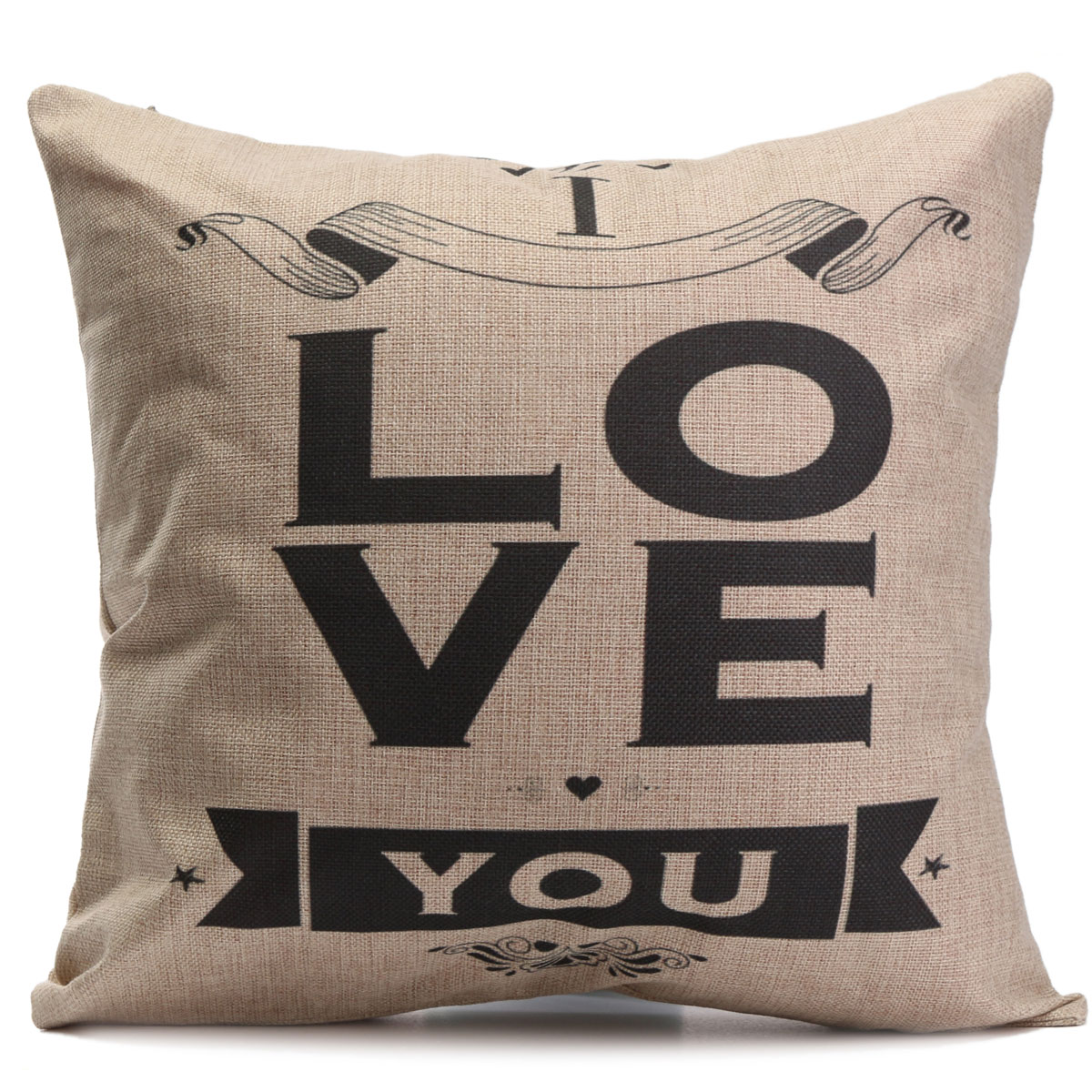 Lovers Lock Pillow Case Cotton linen Cushion Cover Decorative Square Home Throw