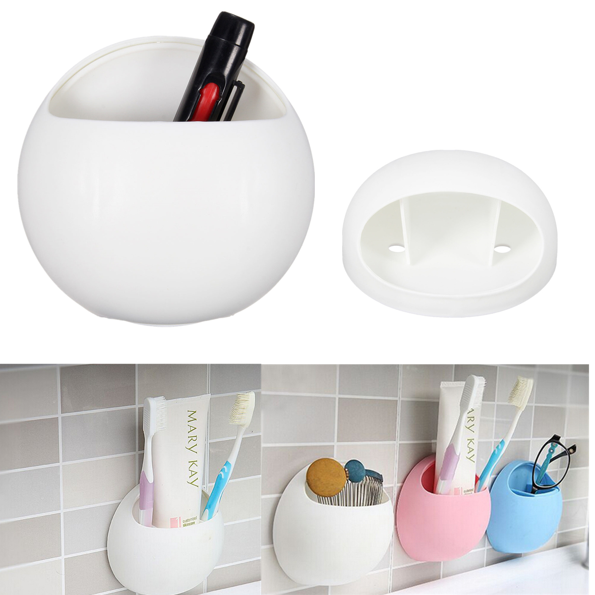 porte brosse dent ventouse mural support toothbrush holder tasse salle de bain ebay. Black Bedroom Furniture Sets. Home Design Ideas