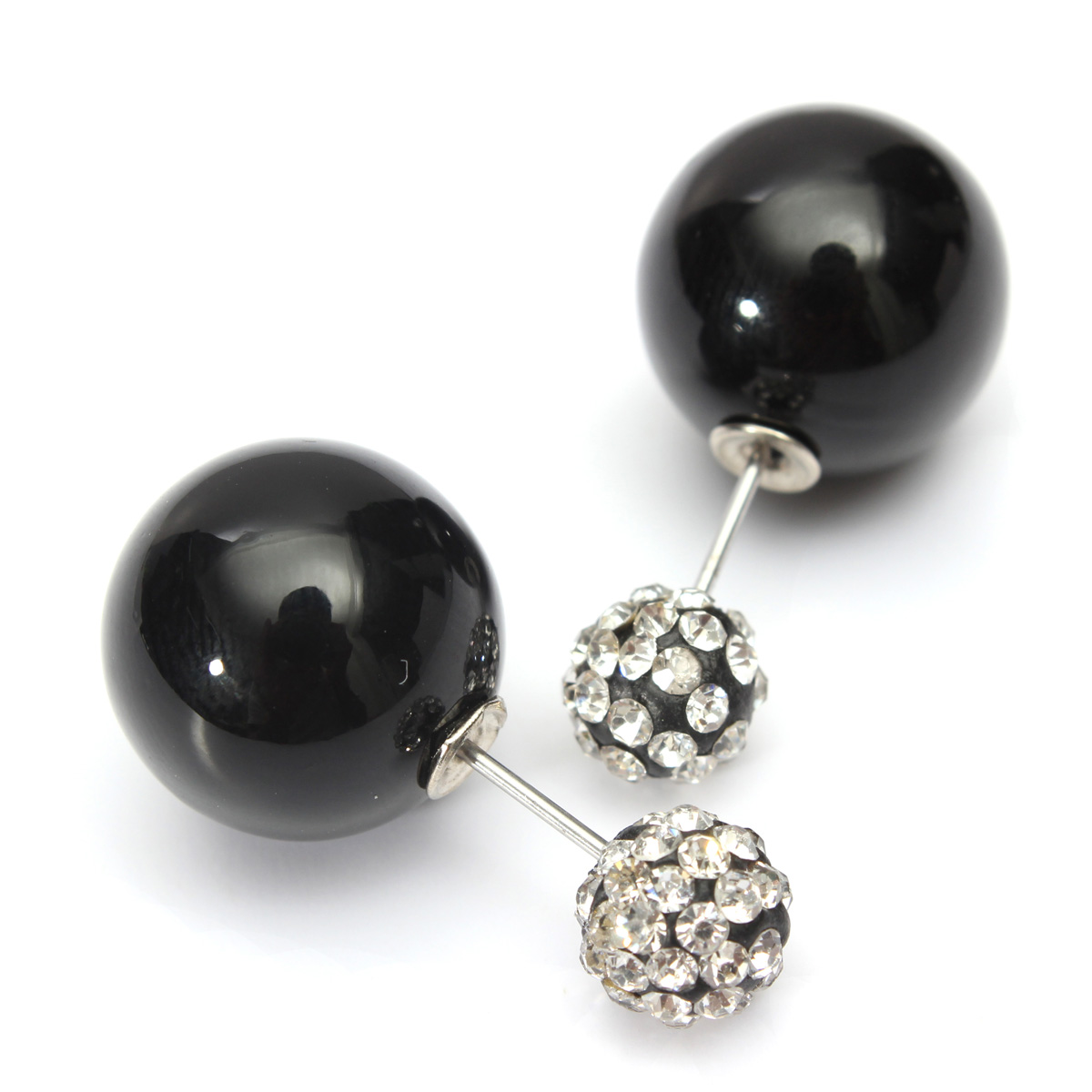 Celebrity Style Beads: Fashion Celebrity Runway Crystal Double Pearl Ball Beads
