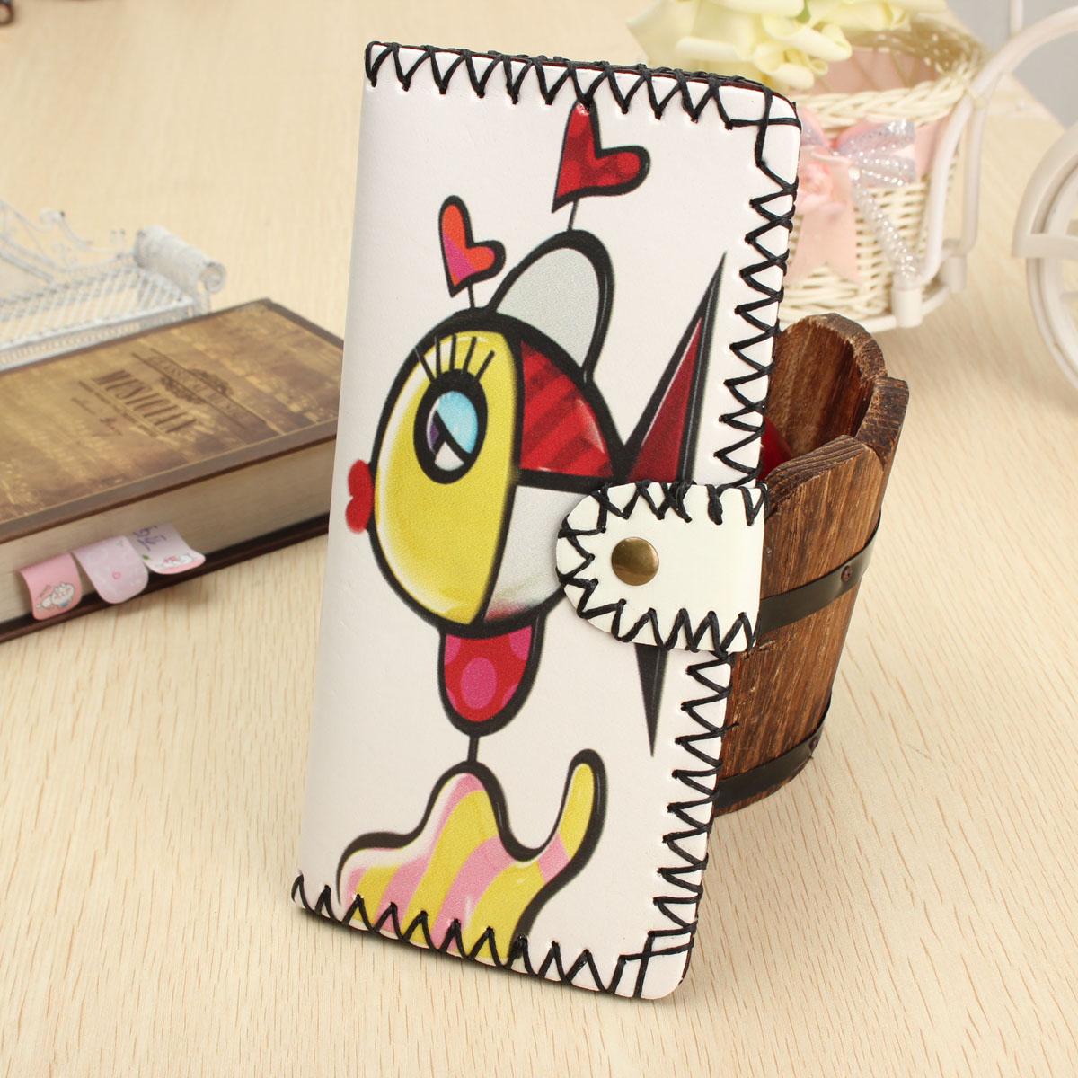 HOT Women Handmade Wallet Purse Long Card Holder Envelope Bag Handbag Leather