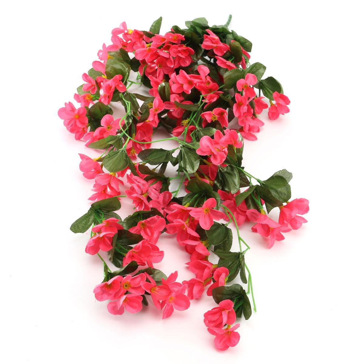seidenblume kunstblumen reben efeurbusch blumenranke
