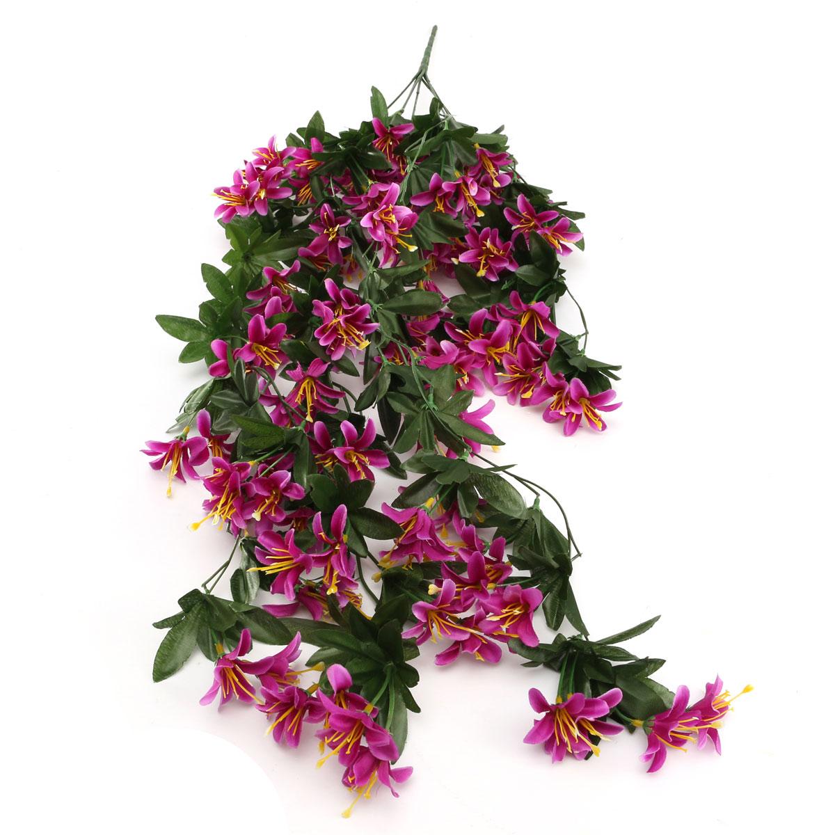 Bouquet fleur artificielle plante suspension maison jardin for Guirlande fleurs artificielles