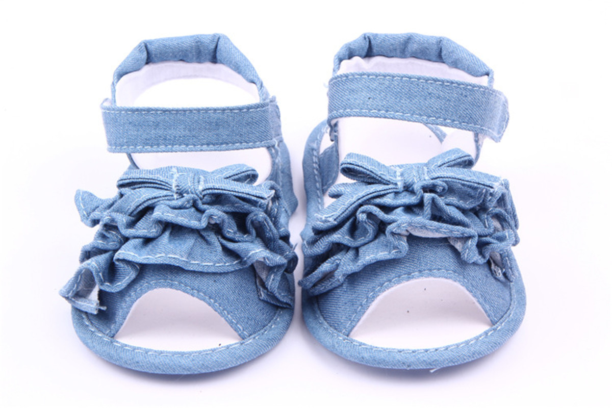 Summer Infant Girls Kids Toddler Sandals Denim Prewalker